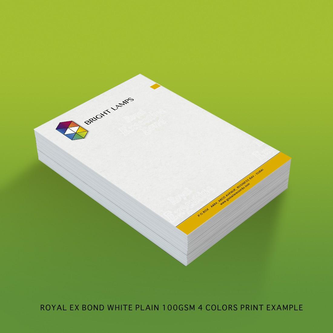 Royal Executive Bond 100gsm white plain 3d view