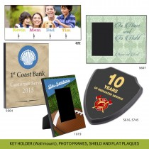 MDF PHOTO PRODUCTS KEY HOLDER (Wall mount), PHOTO FRAMES, SHIELD AND FLAT PLAQUES - Variable Data [Sublimation Print]