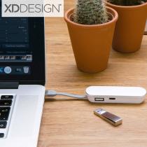 Flat Hub USB Port (Screen print)