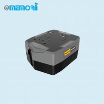 Krumq Universal world travel adapter and power bank (Screen print)