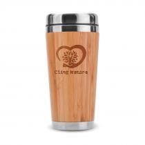 Bamboo Insulated Tumbler and Travel Mug (Engraving)