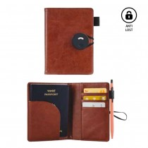 Sleek and Elegant Leatherette Anti Lost Passport Holder with Credit Card Slots (Bluetooth enabled)