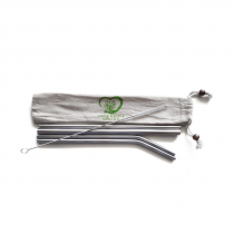 Authentic Stainless Steel Straws set Including a Smoothie Straw