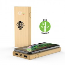 COMRAT - 6000mAh Bamboo Wireless Powerbank
