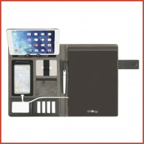DWITER A4 Tech Portfolio; 4000 Mah Powerbank & Luxury Magnetic Metal Closure (UV)