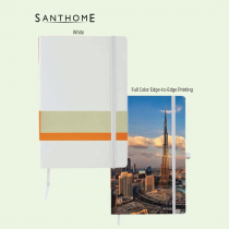 Santhome Hardcover A5 Notebook with Matching Elastic Closure (Screen print)