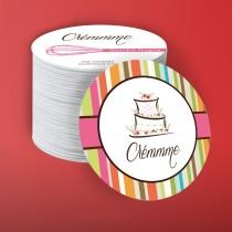 Circle shape business card 70mm diameter