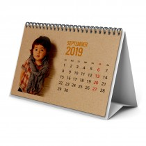 Brown Craft Recycled Card Table Top A5 Calendars (Small Quantity)