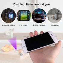 USB Germicidal Mini Mobile Phone UVC Light Disinfection LED Portable Sterilizing Lamp for Mobile Phone for Covid-19 Protection