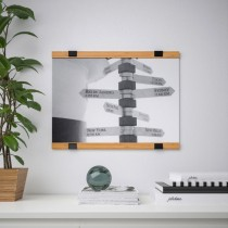 Elegant Wooden Bamboo Poster Hangers