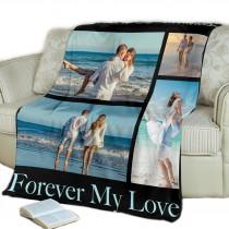 Personalized Fleece Blanket (Throw blanket/ Photo blanket)