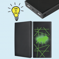 10 000 mAh Powerbank with Light-Up Logo (Screen print)