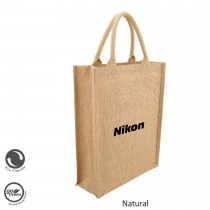 Eco Neutral / Eco Friendly Jute Natural Brown Personalized Bags (SISMAC) - Portrait Tall
