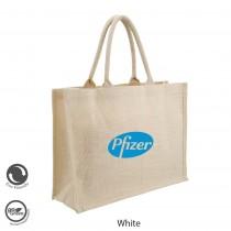 Eco Neutral / Eco Friendly Jute Semi White Personalized Bags (KRISKIT) - Big Wide Bags