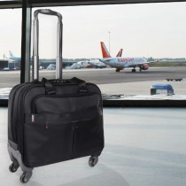 Cabin Trolly Case with Laptop Compartment / Case and with Front Pocket with Luggage Wheels (LAPOVO) 17 inches