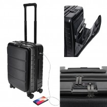 Cabin Trolly Case with Laptop Compartment / Case and with Front Pocket with Luggage Wheels (CASHEL) 20 inches