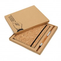Corq Notebook & Bamboo Pen Packed in Gift Box (UV)