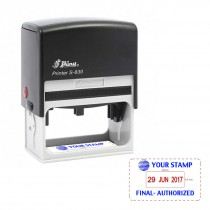 Personalized Large Size Dater Stamps - (Self Ink, Automatic, Rectangle) - 70x36mm