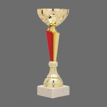 Plastic Combination Trophy - Marble Base  with Metal, Acrylic or Digital Sticker Branding - Awards - Various Sizes (Bowl on Pillar Shape)