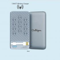 5000 mAh powerbank with 5 WATT Wireless Charger (Screen print)
