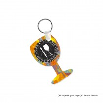 Metal Keychains Different Shapes (Split Heart, Wine Glass, Tshirt, Oval, Round, Square & Rectangular) 2 Sided - Common Data Printing