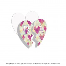Personalized Fridge Magnets (Rectangle / Round / Split Heart) Different Shape - Common Data