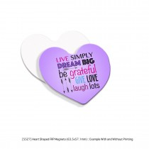 Magnets Heart & Square Shape - Sublimation Printing 4 color CMYK - Give aways personalized souvenirs
