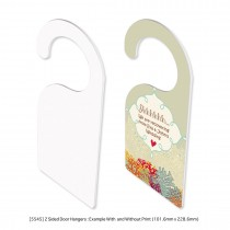 Door Hangers 2 Sided Sublimation Printing (FRP) - Common Data Printing