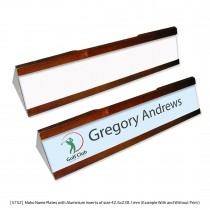 Wooden Name Plate for Office Desks - Variable Data Printing