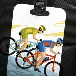 Personalized Bag Tags (Round & Rectangular) Double Sided Sublimation Print - Common Data