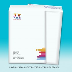 Paper pouch envelopes for A4 size papers