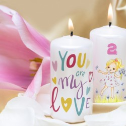 Personalized Candles (Direct printing on wax candles)
