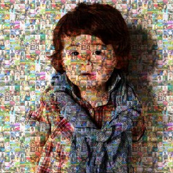 Mosaic Design  Canvas Printing (Photo Collage Canvas with Wooden Frame)