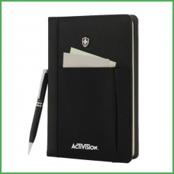 Swiss Peak Refillable Notebook & Pen Set (Screen print)