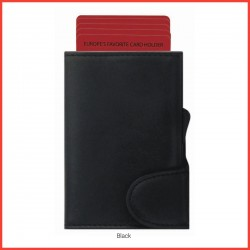 Italian Leather Cardholder Cum Wallet – Canyon (Screen Printing)