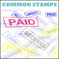 Ready Rubber Stamps for PAID, DELIVERED, CANCELED, AC PAYEE, POSTED, URGENT, ORIGINAL, FAXED, CASH, COPY, REMINDER, EMAILED
