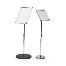 Self Standing T-SIGN Adjustable Pedestal Poster Stand Aluminum Snap Open Frame A4