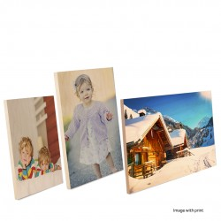 Natural Clear Wood Photo Frames Sublimation Print