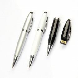 Pen USB with Rubber Mobile Touch Pad, upto 32 GB Capacity with Presentable Metal Box - Engraving or UV Printing - 1 Side Branding