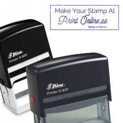 Personalized Rubber Stamps - (Self Ink, Automatic, Oval, Round, Square and Rectangle) - Mandatory Valid UAE Trade License -  MediumPlus Size Stamps