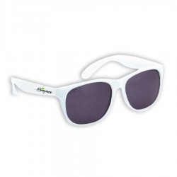 Personalized White Sunglasses with UV400 Protection - (1 Side and 1 Spot Print Included)