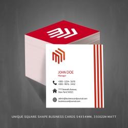 Unique Square Shape Business Cards