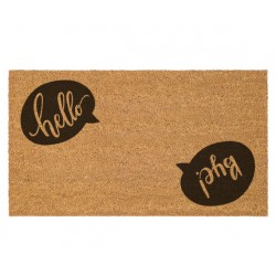Door Mats with Logo or Personalized Messages - Brown Color Print