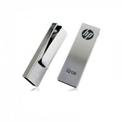 Slim Design Metal Matt Aluminium USB with Metal Clip, upto 32 GB Capacity with Presentable Plastic Box - Engraving or UV Printing - 1 Side Branding