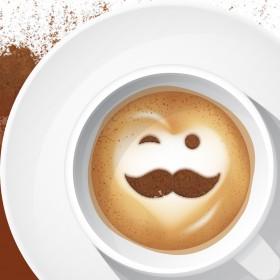 Customized Coffee Chocolate Sprinkler Stencils (Coffee stencil)