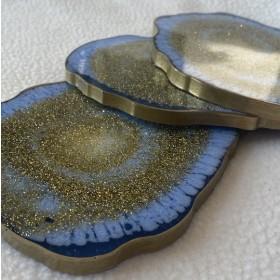 Custom Agate Coaster set