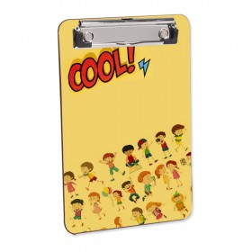 Personalized Mini clipboard with flat clip (Multipurpose - Home, Office or Students) Sublimation 4 Color CMYK Color Printing - A5 Size