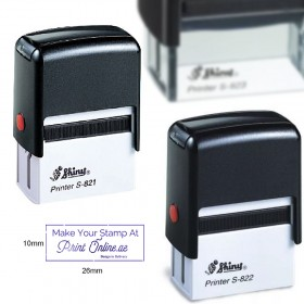 Personalized Company Stamps - Small Size (Self Ink, Automatic, Rectangle) - Mandatory Valid UAE Trade License