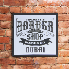 Classic Signage - Chrome Plate with Black Acrylic