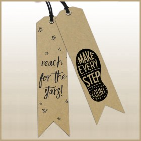 Personalized Bookmarks (300gsm Craft Card, With Eyelets and String)